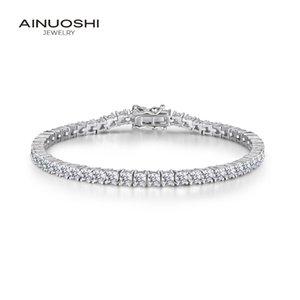 Роскошный 925 стерлингового серебра 3mm круглый камень теннис браслеты для женщин 8 «» 7,5 «» 7 «» Длина Серебряный браслет ювелирных изделий CX200706