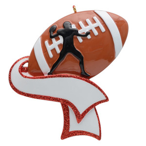 Free Customization-Personalized Football Ornament for Christmas Tree Decor Christmas Gifts for Football Player Athlete Amateur