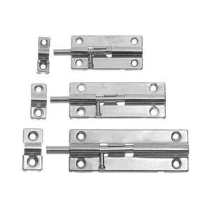 Оборудование двери Болты 1Pc 3/4/5 дюйма Inch Long Silver из нержавеющей стали Дверная защелка Раздвижные Цилиндр замка ригель Hasp скрепок ворота