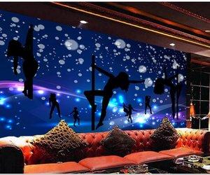 colorido karaoke KTV bar discoteca pared de papel tapiz de fondo azul oscuro para la sala de estar