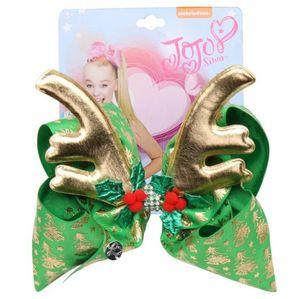Jojo Siwa Hair Bows 8inch Big Bow per bambini Christmas staghorn bow hairpin deformato con trapano Bow Hairpin