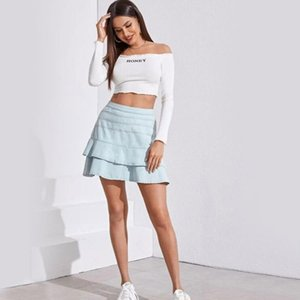 Модная высокая эластичная джинсовая юбка lacemini Женская одежда Юбки jupe gonna dress узкая джинсовая юбка short de designer Apparel XS,