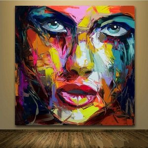 Francoise Nielly Jordon Handpainted & HD Print Abstract Graffiti Art Oil Painting On Canvas Wall Art Home Deco High Quality p181 vA.