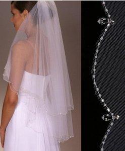 Nouveau incroyable Meilleures ventes de perles bord deux couches Longueur du poignet sur mesure Veil Ivoire mariage blanc rouge Meidingqianna Marque alliage peigne