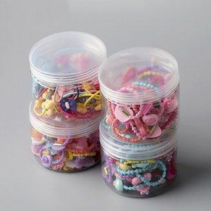 20 40 Pcs girls hair ring children's tiara hair accessories elastic rubber band ring Korean version of the head rope set