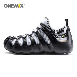 Onemix chaussures Rome gladiator femmes ensemble hommes chaussures de course chaussures de jogging chaussures de marche en plein air chaussette comme chaussures de sport 1230