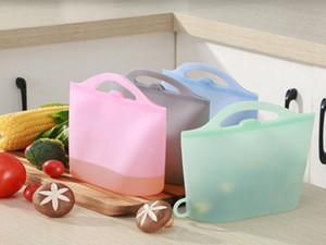 FDA 재사용 가능한 실리콘 식품 보존 가방 밀봉 식품 신선한 저장 용기 다재다능한 요리 가방 실리콘 음식 신선한 가방