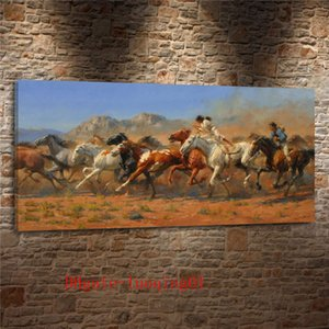 Wild Horses occidentale, Tela Pezzi Home Decor HD Stampato arte moderna pittura su tela (Unframed / Framed)