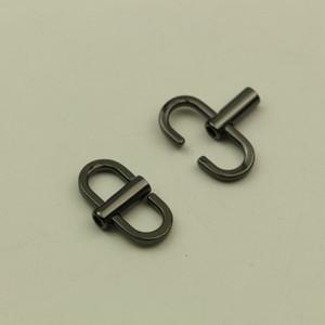 Ajustable de la hebilla del metal de correa del bolso del anillo giratorio rotativo Bolso Cadena Conectores Los ganchos de Artesanía en cuero DIY