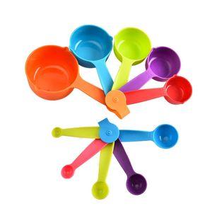 5PCS medir de cocina utensilios de cocina cucharas de colores de las tazas para hornear cuchara utensilio de cocina Conjunto de herramientas de medición S L