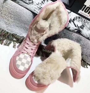 Le donne di alta qualità stivali da neve scarpe stivali di pelliccia uno casual scarpe inverno moda Stivali Rivetto scarpe calde mantengono con box UE: 35-42