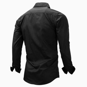 High Quality Spring Autumn Men Shirt Long Sleeve Solid Color Lapel Zipper Shirt Outdoor Casual Shirt Large Size N66 Outdoor Jackets&Hoodies