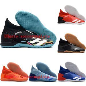 2020 top quality mens soccer shoes PREDATOR 20.3 Laceless IN IC indoor soccer cleats Predator 20 football boots botas de futbol 02