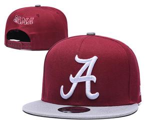 Vente en gros NCAA Alabama Crimson Tide Casquettes réglable Chapeaux Snapbacks College Mode Hip Hop Chapeaus brodé Logos Livraison gratuite
