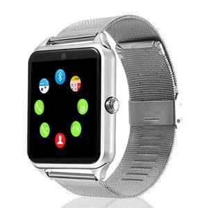 스마트 시계 Z60 스틸 벨트 스마트 블루투스 착용 할 수있는 카드 Instert 전화 시계 공장 가격 팔찌