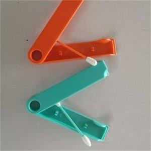Recycling Baumwolltupfer Double Head Silikon-Ohrreiniger Tupfer Stick-Make Up Earpick Sticks bewegliches im Freien Reisen 3 6MK H1