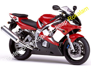 YZF600R YZF R6 Fairing Set For Yamaha YZFR6 1998 1999 2000 2001 2002 Motorbike Cowlings Red White Black (Injection molding)