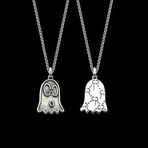 2020 Diseño del recorte Nuevo Retro astilla Mujeres Hombres Esqueleto Collar de Calle Santo cadena del collar del ahogador de la joyería de lujo h