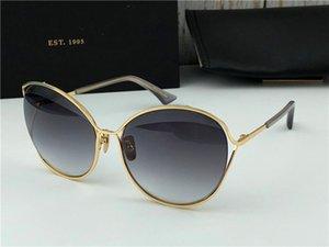 Nuovi occhiali da sole dello stilista SAS irregolare metallo moleria luci lenti estate fascia alta vetri decorativi superiore
