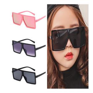 SICAK Moda Çocuk Güneş Çocuk Oversize Çerçeve Güneş Gözlük Anti-UV Gözlük Bebek Gözlüğü Kare Gözlükler Gözlüğü Adumbral A ++