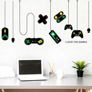 크리 에이 티브 게임 패드 아이 방에 대 한 벽 스티커 거실 게임 침실 인터넷 카페 배경 장식 이동식 비닐 아트 벽 데칼