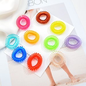 2.5cm High Quality small Telephone Wire Cord Gum Hair Tie Girls Elastic Hair Band Ring Rope Candy Color Bracelet Stretchy Scrunchy