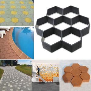 Driveway Paving Pavement Mold Mould Patio Concrete Stepping Stone Path Walk Maker DIY