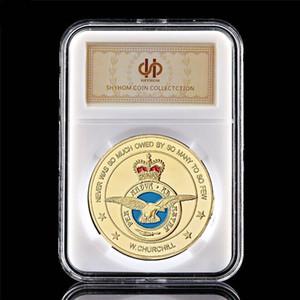 Mücadelesi Coin Avrupa Lüksemburg Asker Kraliyet Hava Kuvvetleri Askeri Koleksiyon 1oz Altın Kaplama Coin W / Pccb Kutusu