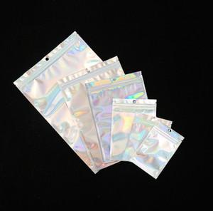 Mehrere Größen Resealable Geruch Proof Taschen Folienbeutel Tasche Flachdruckverschlussbeutel für Party Favor Nahrungsmittelspeicher, Holographic Farbe freies Verschiffen