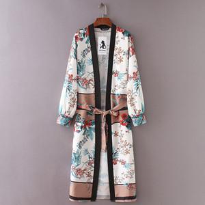 Womens Tops camicetta delle donne della cinghia dello scialle benda Womens Stampa kimono Top Cover Up Beachwear Dropshipping Aug29 trasporto di goccia di buona qualità