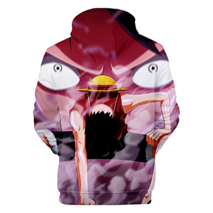 High Quality Hoodies ONE PIECE Cartoon 3D Hoodies Men Women Hooded Casual Loose Luffy Printed Sweatshirts