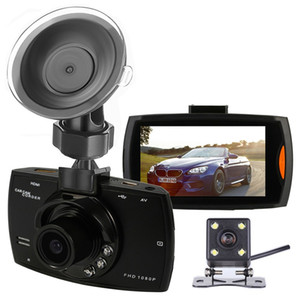 """2CH dashcam سيارة مسجل فيديو رقمي DVR السيارة 2.7 """"شاشة الجبهة الخلفية 140 درجة 100 درجة واسعة زاوية FHD 1080P رؤية الليلية"""