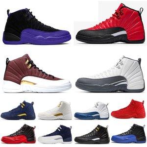 Yeni 12 12s erkek basketbol ayakkabıları FIBA Koyu Concord Vinterize WNTR Üniversitesi Altın Oyun Kraliyet gribi oyunu erkek atletik spor ayakkabı