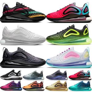 2020 platina metálica 720 homens que executam sapatos 720S mulheres obsidiana Jogging utilidade exterior Sapato de passeio pedestre almofada ténis 72c Chaussure