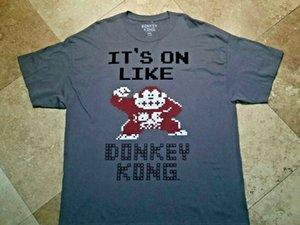 Donkey Kong Kısa Kollu Grafik Tee Gömlek 100 Pamuk Gri 2XL