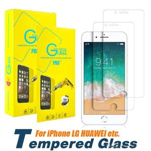 Für iphone xs max xr x 7 8 6 plus 5 s 2.5d gehärtetes glas displayschutzfolie für samsung galaxy s6