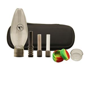 510 Mini Honey Bird Kits With 510 Titanium Quartz Ceramic Black Zipper Case Kit Oil Rig Dab Rig Glass Bongs Water Pipe