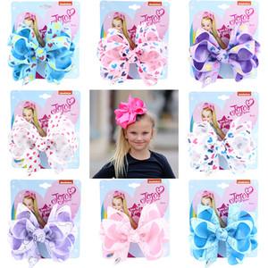 2020 San Valentino 5inch JO archi di amore del cuore Barrettes fatti a mano clip di capelli del nastro del Grosgrain delle forcelle accessori dei capelli per neonate M988