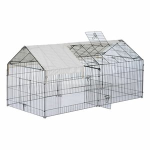 """Outdoor 87"""" Large Dog Kennel Crate Pet Enclosure Playpen Run Cage House w Cover"""