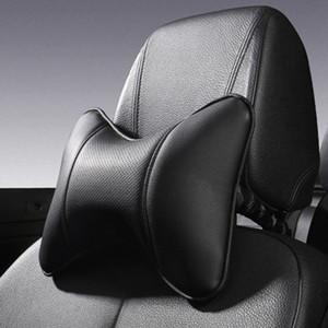 Universal PU Leather Four Season Car Auto Asiento Head Neck Pillow Resto Soporte Cojín Pad HeadRest Hueso en forma de almohada para el cuello