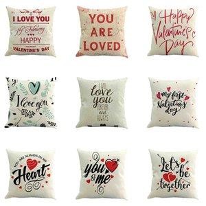 2019 Heureux cas Valentine Day Throw Pillow Sweet Love Coussin carré Couverture Pillowcases Housse de coussin Cojines Taie d'oreiller A4
