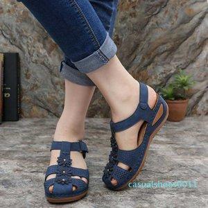 Women's Wedge Gladiator Sandals Women Shoes Peep Toe Bohemia Flip-Flop Ankle Strap Casual Outdoor Hiking Slip on Shoe Woman c11