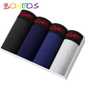 Bonitos Marke Unterwäsche männliche 4pcs / pack Boxer Cotton Cueca 365 Chevalière Unterhose Männer Shorts Höschen lange CX200622 underware