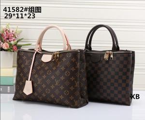 1LouisVuittoLV2020 Freie Verschiffen-Qualität echte schwarze geprägte Handtasche Leder Frauen