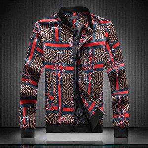 Men's patterned jacket floral print men's jacket retro classic fashion bomber jacket men's party club clothing men