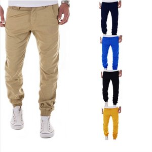 Men's Casual Trousers New Style Men's Casual Pants Fashion Candy Color Men's Trousers Small Feet Pantsmale Joggers Streetwear