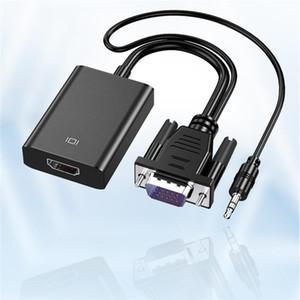 Vga إلى Hdmi محول محول مخرجات 1080P HD مع Audio VGA2HDMI TV AV إلى Hdtv محول كابل فيديو لمحول كمبيوتر تلفزيوني