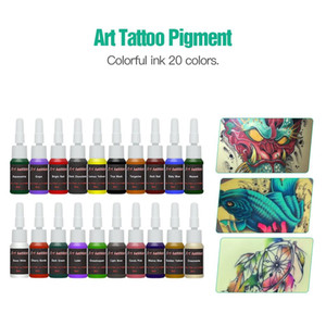Complete Beginner Tattoo Kit 20 Color Inks Mini Tattoo Power Supply Cheap Tattoo Kit Set Grips Needles Tips Supplies hot