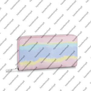 M69110 M68841 Escale Zippy محفظة قماش ريال جلد البقر والجلود النساء الرجال التعادل صبغ بطاقة النقدية عملة سستة المحفظة حقيبة محفظة