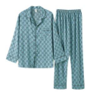 Lettera completa G di alta qualità Pigiama Pijama lusso donne di seta Lettere Stampa T-shirt manica Sleepwear delle donne sexy casuali Home Abbigliamento
